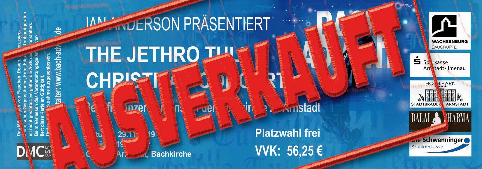 << The Jethro Tull Christmas Concert >> ist ausverkauft!